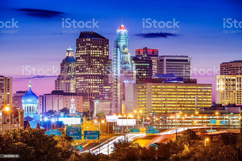 Hartford City Skyline stock photo