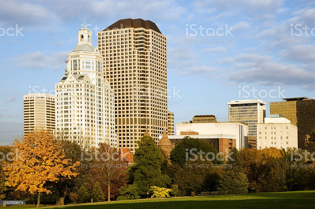Hartford cityscape stock photo