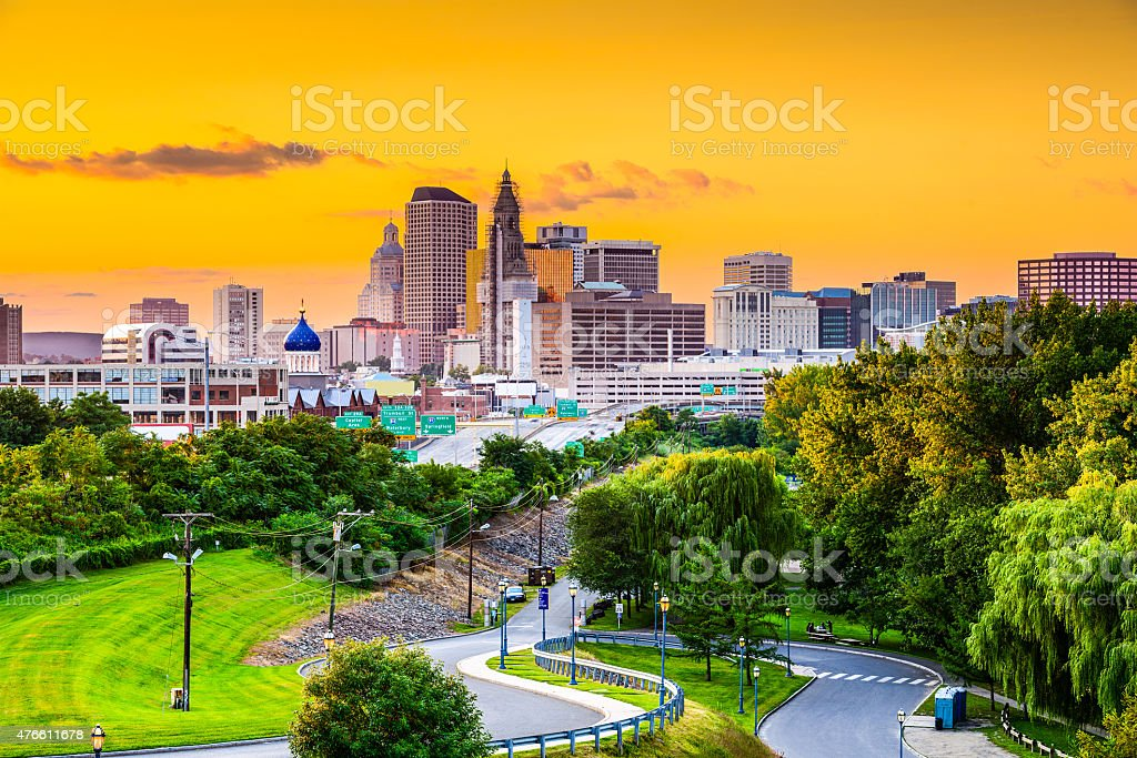 Hartford, Connecitcut Skyline stock photo