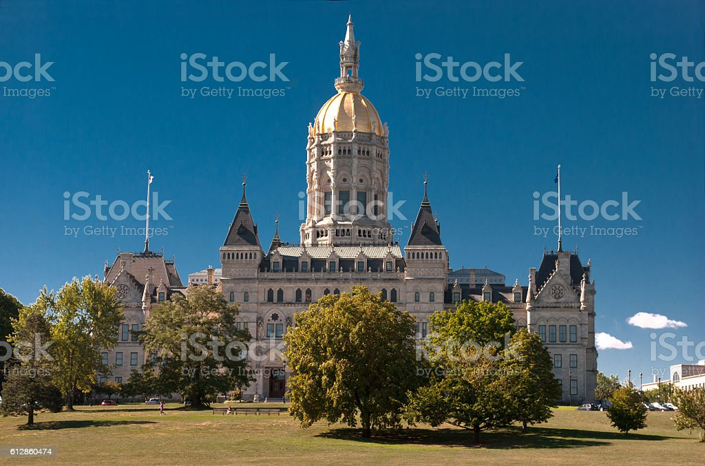 Hartford Connecticut Capitol Afternoon stock photo
