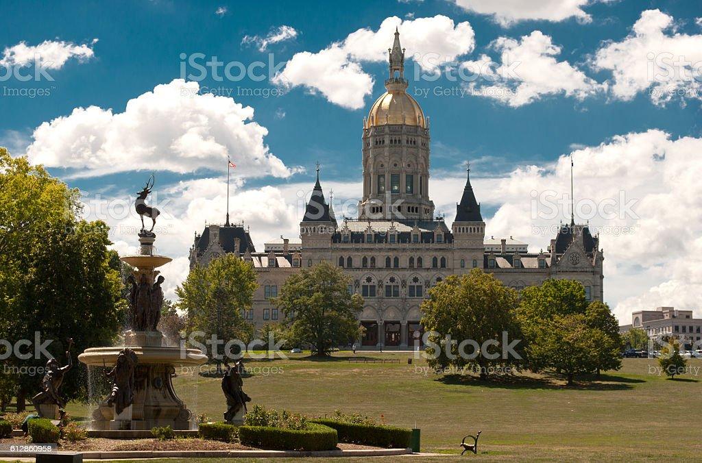 Hartford Connecticut Capitol Noon stock photo