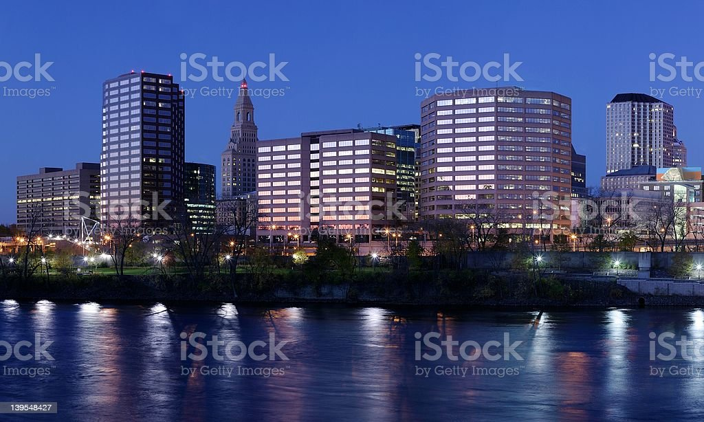 hartford connecticut skyline royalty-free stock photo