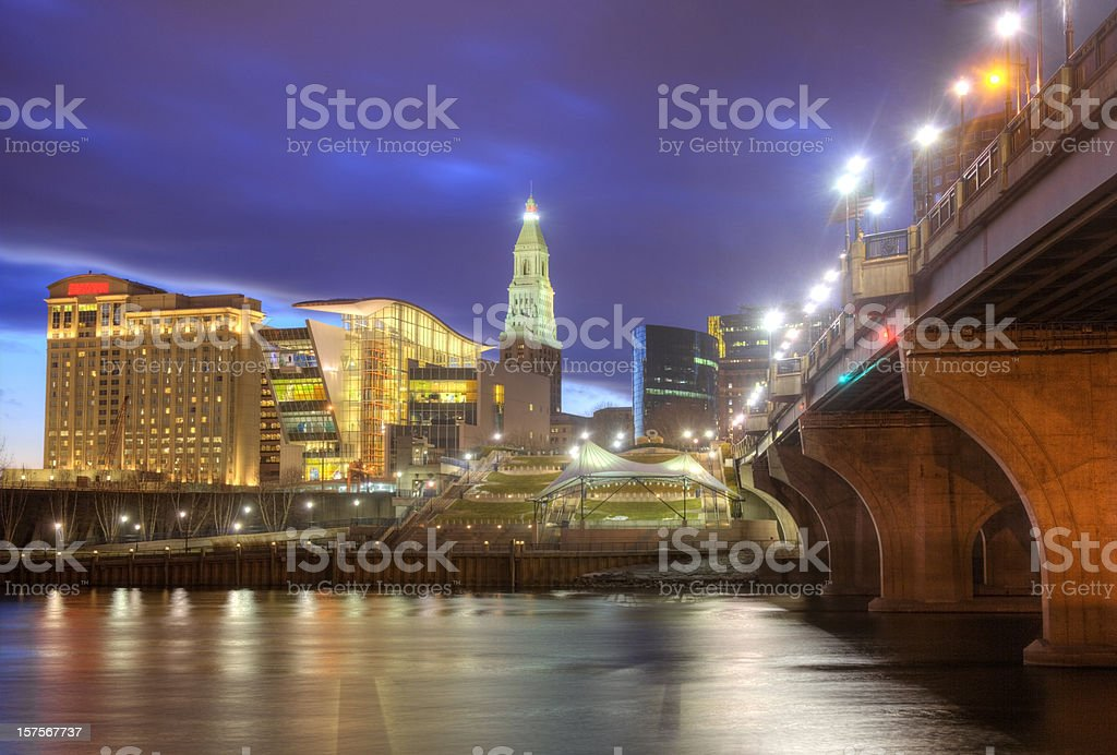 Hartford, Connecticut Skyline stock photo