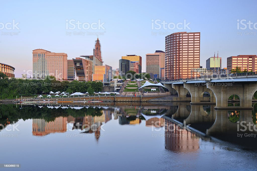 Hartford, Connecticut Skyline royalty-free stock photo