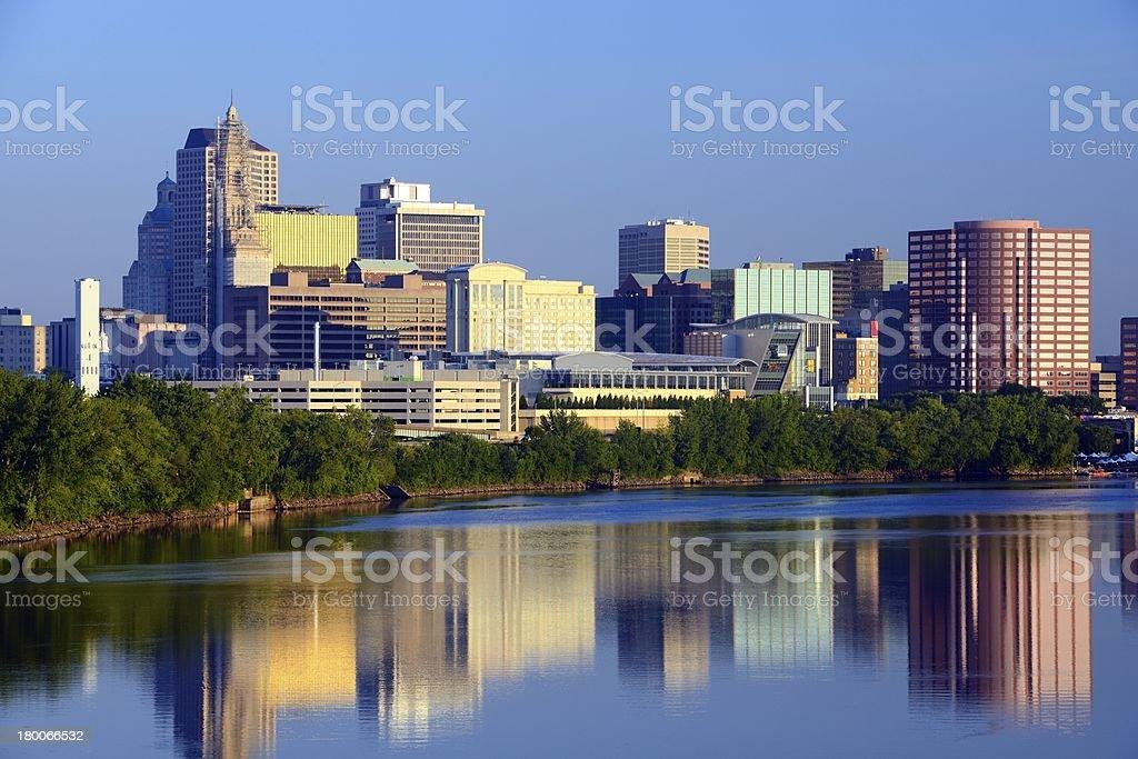 Hartford, Connecticut Skyline royalty-free stock photo