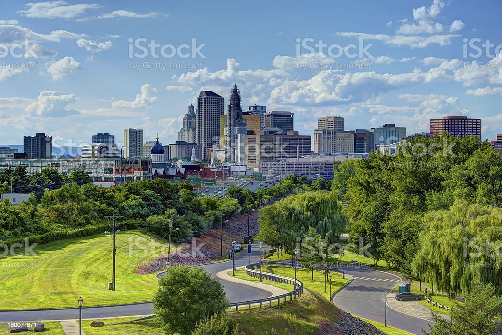 Hartford Connecticut Skyline stock photo