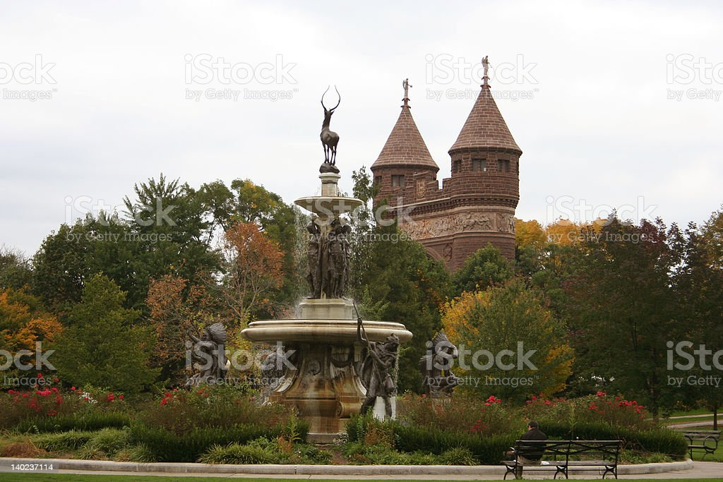 Hartford: Fountain and Gate to the City stock photo