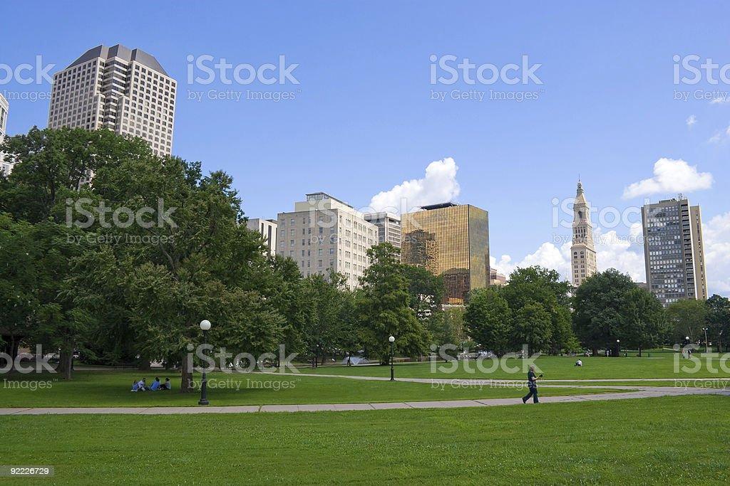 Hartford Skyline royalty-free stock photo