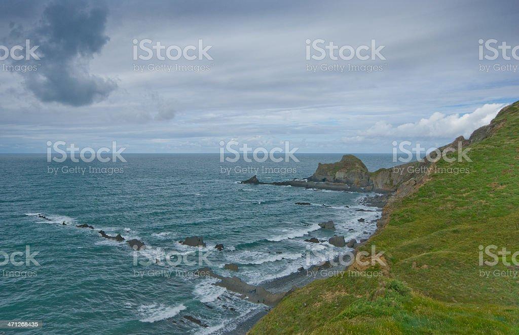 Hartland, North Devon stock photo