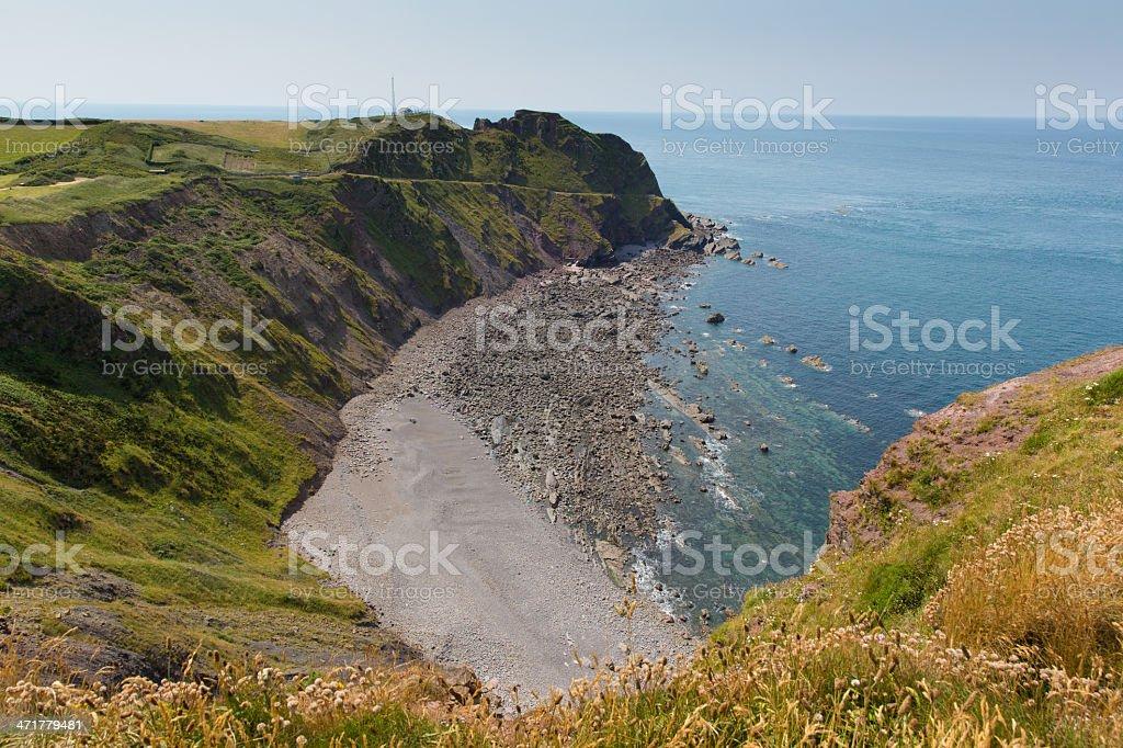 Hartland Point beach Devon England stock photo