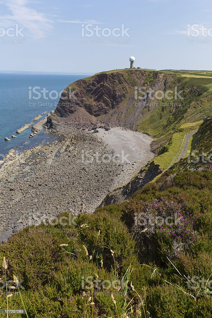 Hartland Point peninsula Devon England stock photo