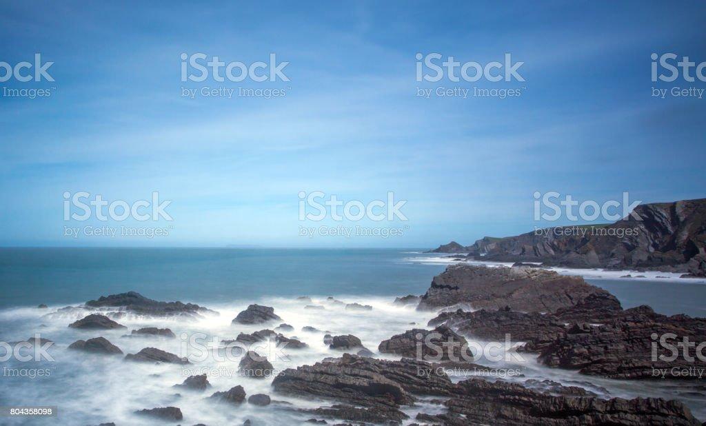 Hartland`s Rugged Coastline stock photo
