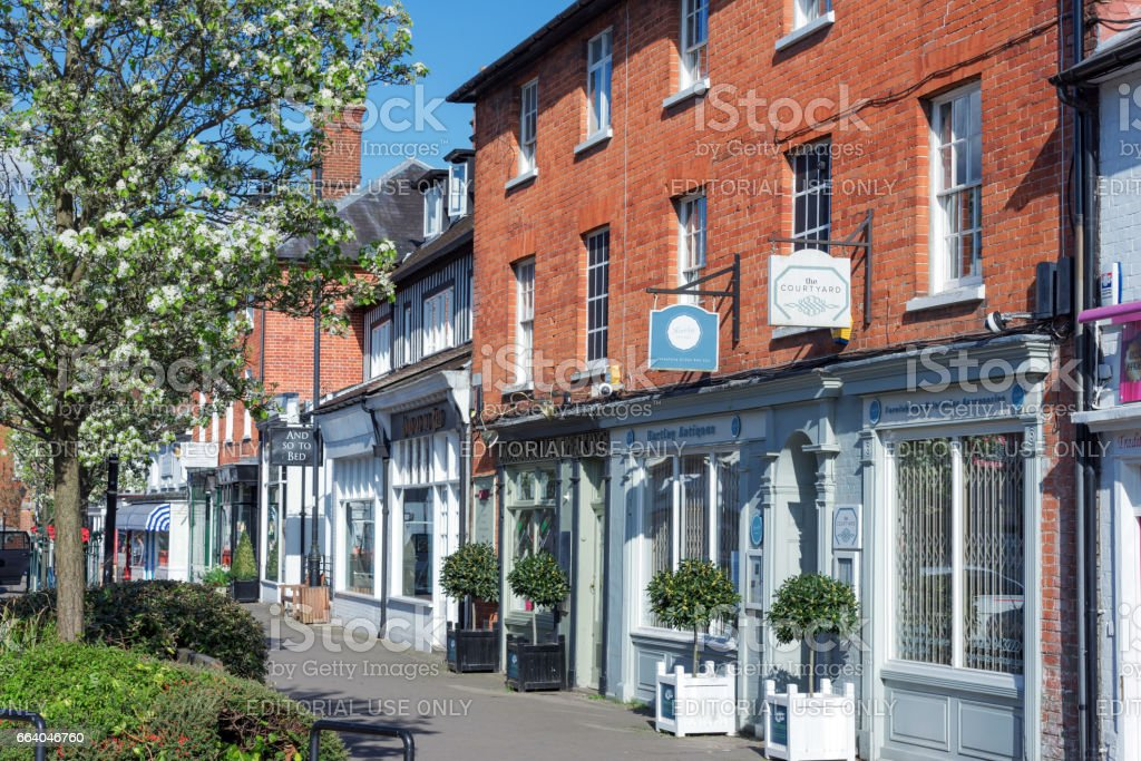 Hartley Wintney High Street, UK stock photo