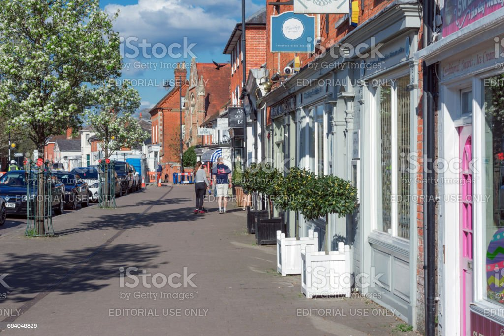 Hartley Wintney High Street, UK stock photo