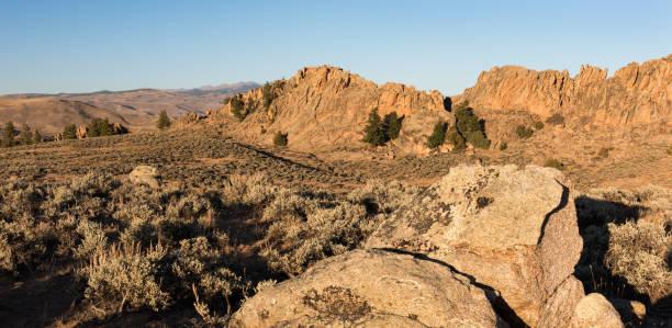Hartman Rocks Recreation Area, near the City of  Gunnison, Colorado. stock photo