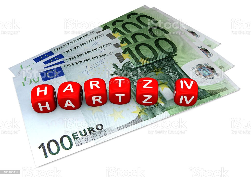Hartz 4 Rote Würfel stock photo