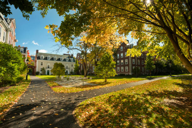 Harvard Business School in Boston Massachusetts USA stock photo