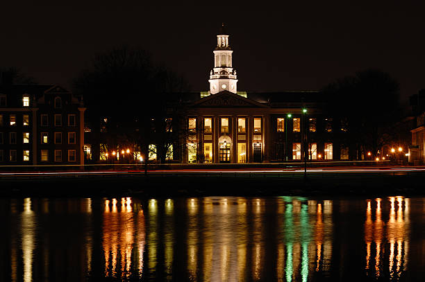 Harvard Business School Harvard Business School at Night harvard university stock pictures, royalty-free photos & images
