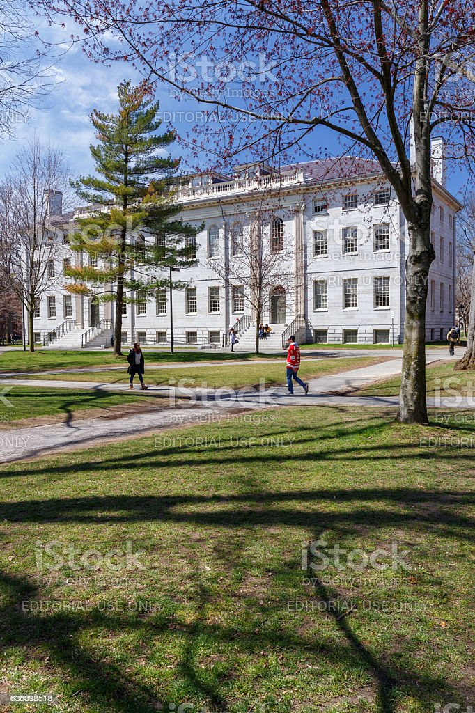 Harvard Campus in Spring stock photo