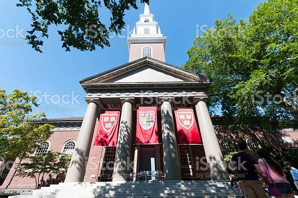 Harvard Church On Harvard Campus Boston Massachusetts Stock Photo - Download Image Now