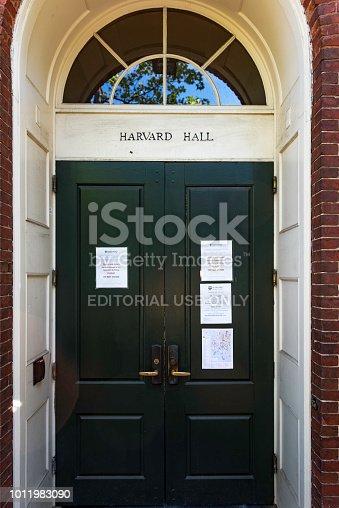 683709204istockphoto Harvard hall 1011983090