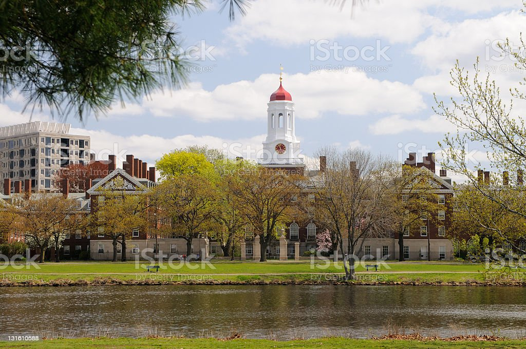 Harvard in the spring royalty-free stock photo