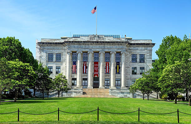 Harvard Medical School Boston, Massachusetts, USA - June 4, 2016: Daytime view of the Harvard Medical School quadrangle situated in the Longwood Medical Area harvard university stock pictures, royalty-free photos & images