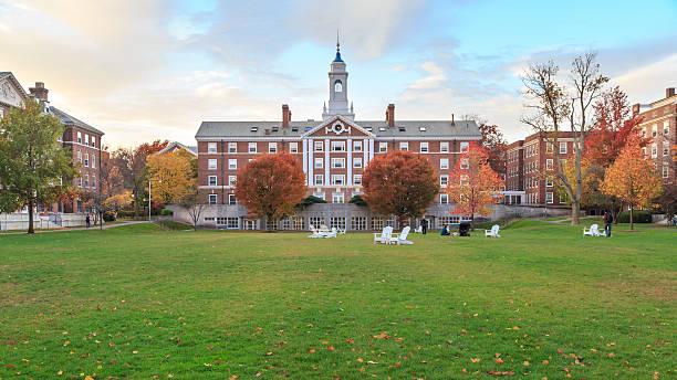 Harvard Moors Hall Cambridge, MA, USA - November 2, 2013: Radcliffe Quad undergrad housing at Harvard University in Fall in Cambridge, MA, USA on November 2, 2013. harvard university stock pictures, royalty-free photos & images