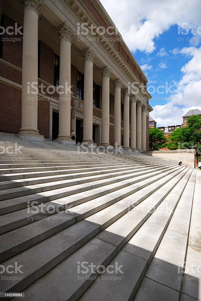 Harvard University - Widener Library stock photo