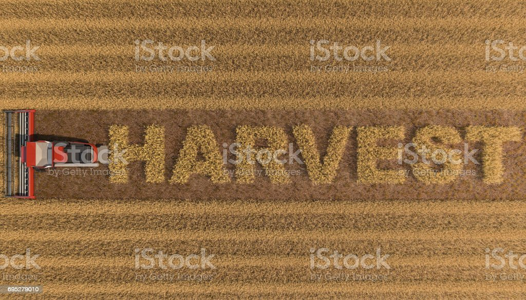 Harvest and Harvest Machinery stock photo