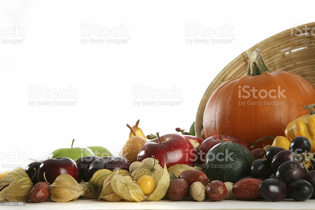 harvest, fruit and vegetable royalty-free stock photo