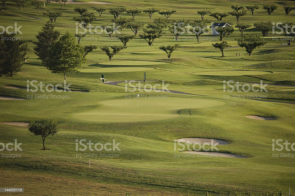 Harvest Golf Course royalty-free stock photo