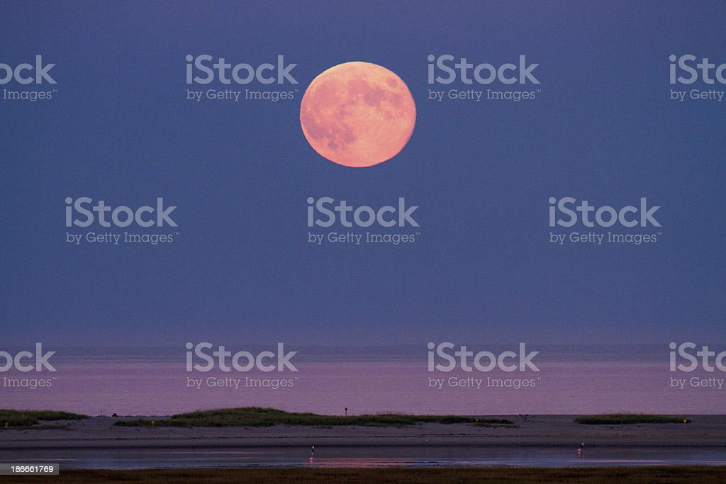 Harvest Moon October stock photo