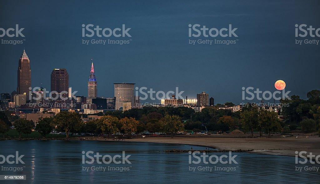 Harvest Moon Over Cleveland foto