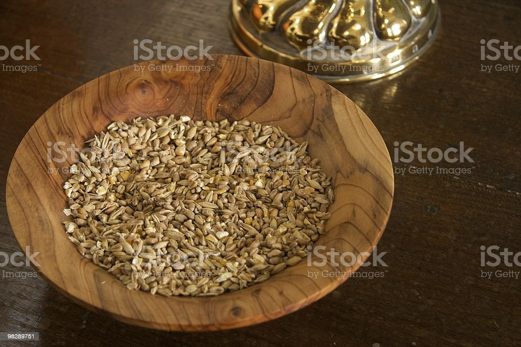 Harvest seeds on the altar royalty-free stock photo