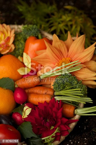 istock Harvest with fruits and vegetables 518260263