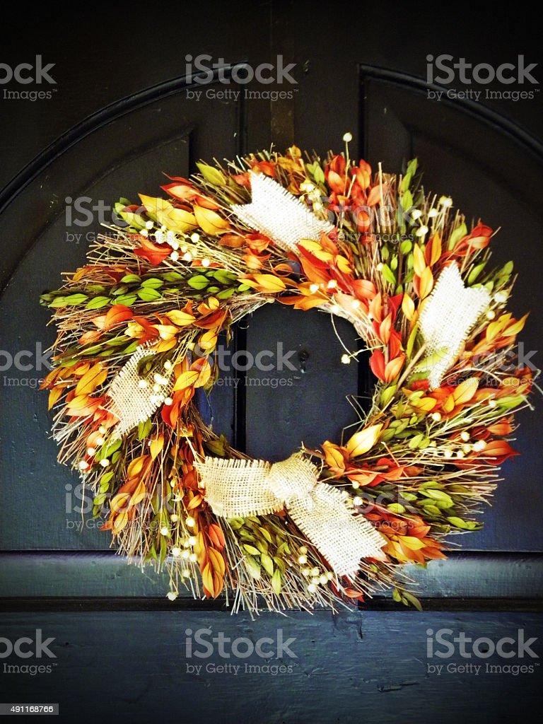 Harvest Wreath stock photo