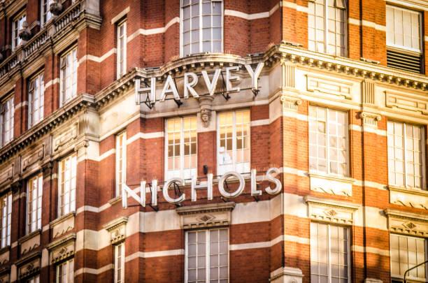 Signo exterior de Harvey Nichols, Londres - foto de stock