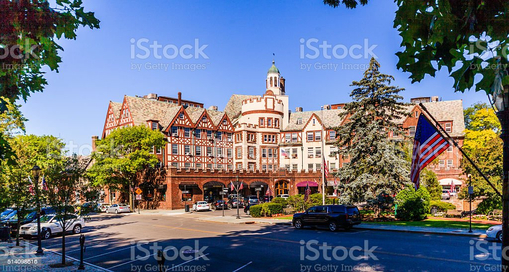 Harwood Court in Scarsdale, Westchester county, New York State, USA stock photo