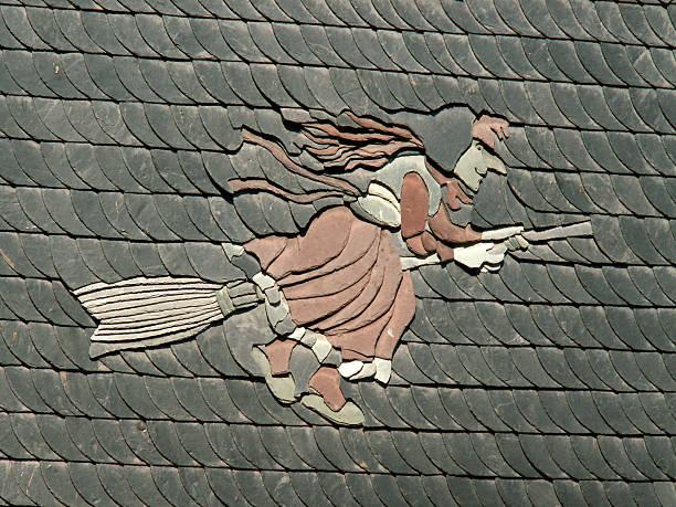 Harzer Hauswand in Schiefer witch's hat ein – Foto