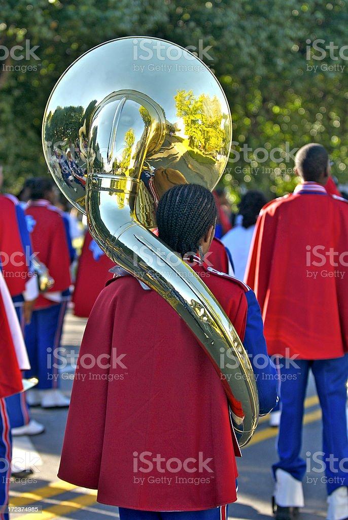 Has Anybody Seen the Tuba Player? stock photo
