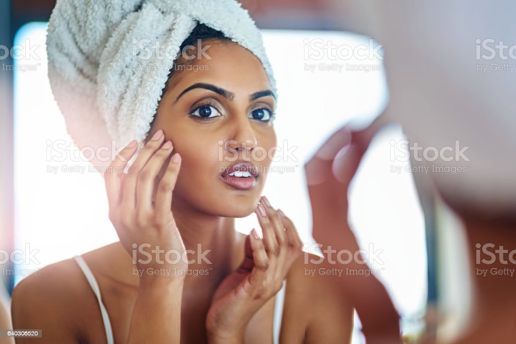 Has my fear of wrinkles finally dawned upon me? stock photo