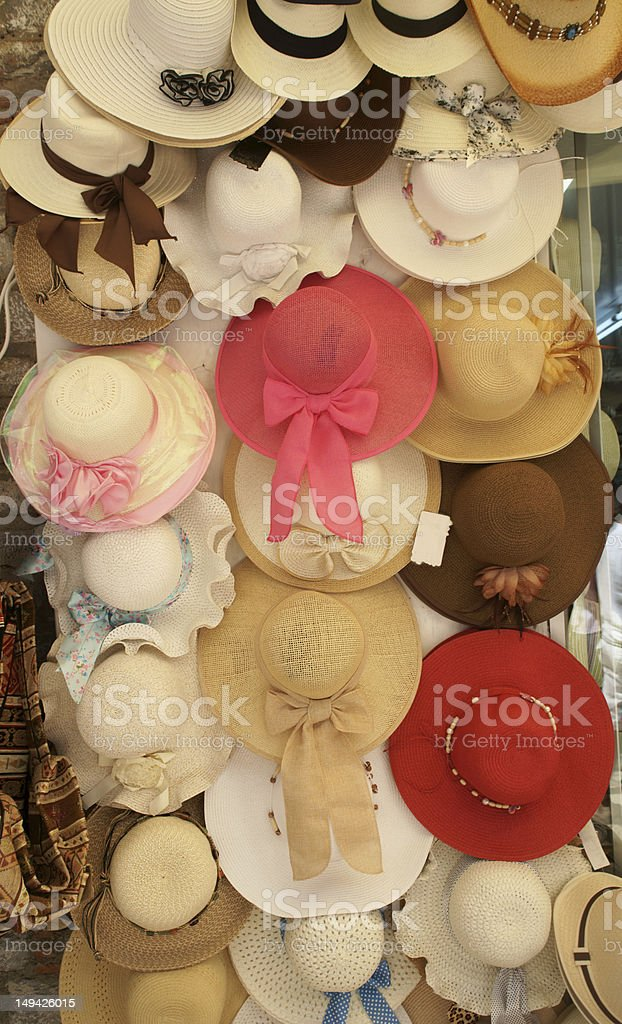 hat shop royalty-free stock photo
