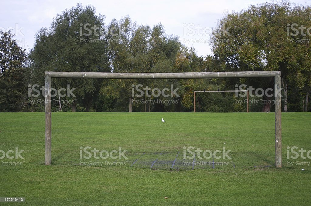 Has someone moved the goalposts? stock photo
