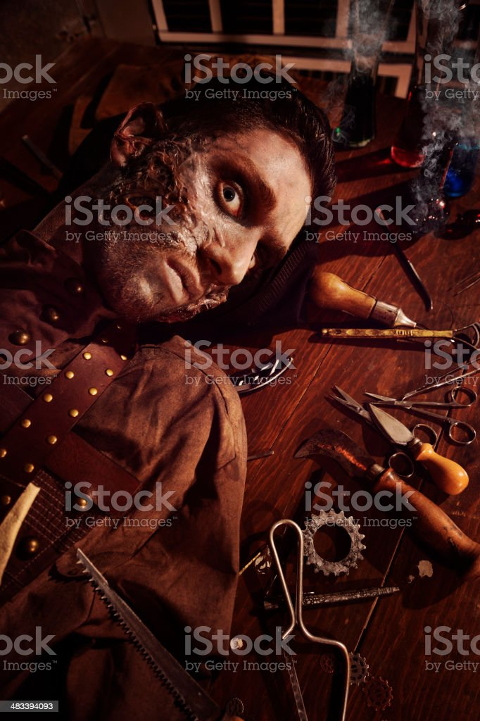 Has the Mad Doctor Become A Patient ? stock photo