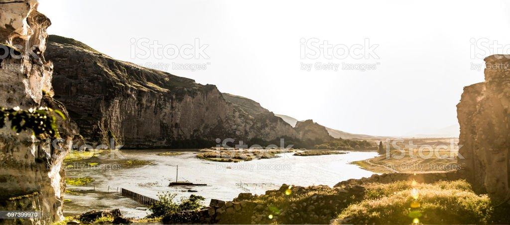 Hasankeyf Castle Seljuk Empire stock photo