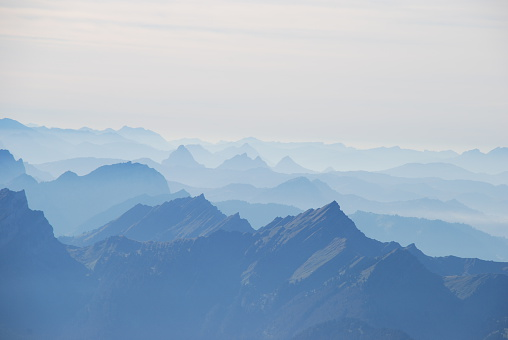 Hase and panoramic view Swiss alps
