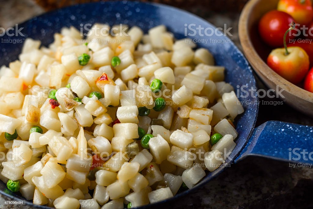 Hash Brown Potatoes stock photo