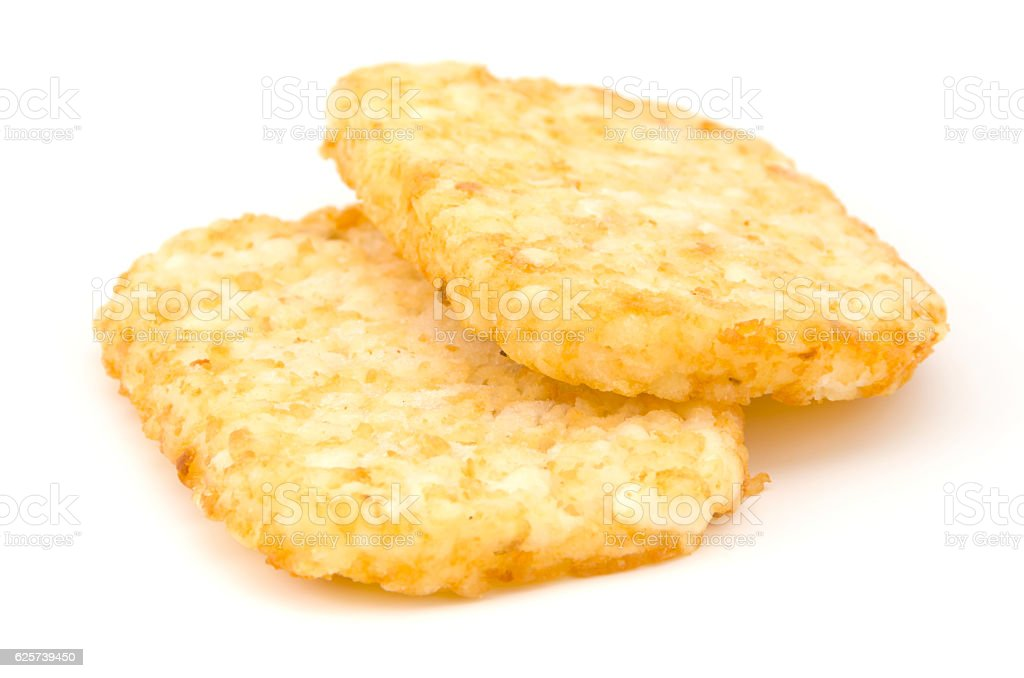 hash browns (frozen) stock photo