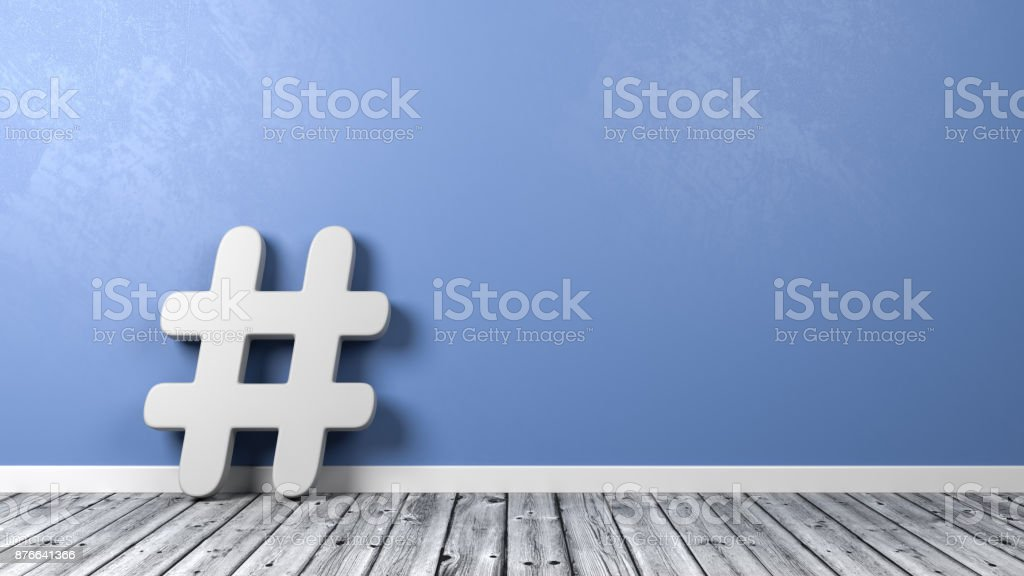 Hash Symbol with Copyspace stock photo